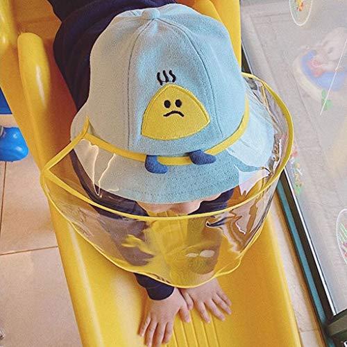 GZCC Kinderbeschermkapjes, antislip, speeksel gezichtsmasker, waterdicht, stofdicht buiten zonnescherm visser hoeden groen-52-54CM
