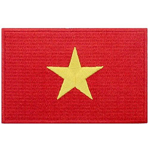 Vietnam Vlag patch geborduurd apparaat Vietnamese ijzer op naaien op nationaal embleem