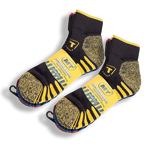 MT 6 Paar Herren Arbeits- und Freizeit Kurzschaft Sneaker Socken-43-46