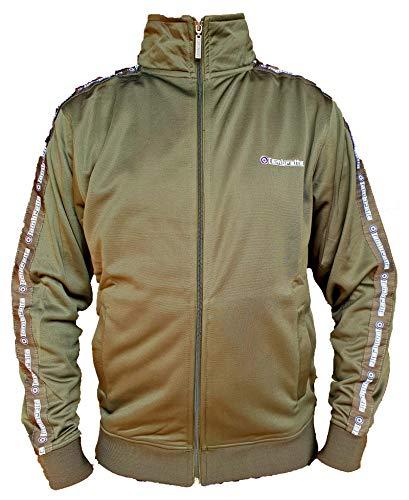 Lambretta Trainingsjacke für Herren, langärmlig, mit Markenlogo Gr. XXL, khaki