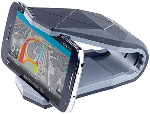 PEARL Handy Halterung Klammer: Universelle Kfz-Smartphone-Halterung mit Klammer, bis 15,2 cm (6