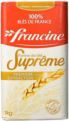 Francine Farine de Blé Suprême 1 Kg - Lot de 5