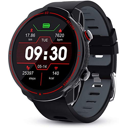 GOKOO Smart Watch for Men Heart Rate Monitor Sleep Monitor Blood Pressure Activity Tracker IP68 Waterproof Smartwatch Full Touch Color Screen Long Battery Life Camera Control Step Calorie Counter