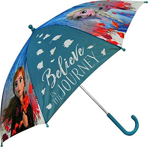 Frozen 45 cm Auto 2 Ombrello Campeggio e Trekking Bambini, Unisex, Multicolore (Multicolore), Taglia Unica