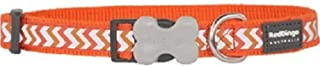 Red Dingo Reflective Ziggy Dog Collar, Medium-Large, Orange