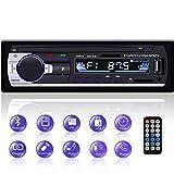 YYKJ - autoradio Bluetooth da 1 DIN, radio radio FM a 1 DIN, supporto per autoradio EQ/USB/TF/SD/AUX, ricevitore audio + telecomando singolo Din lettore MP3