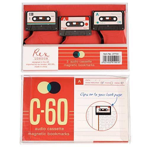 Lesezeichen mit Kassettenband, 3 Stück