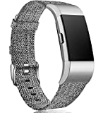 Maledan Compatible with Charge 2 Bands for Women Men, Small, Charcoal