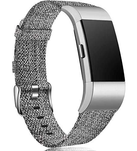 Maledan Compatible with Charge 2 Bands for Women Men, Large, Charcoal