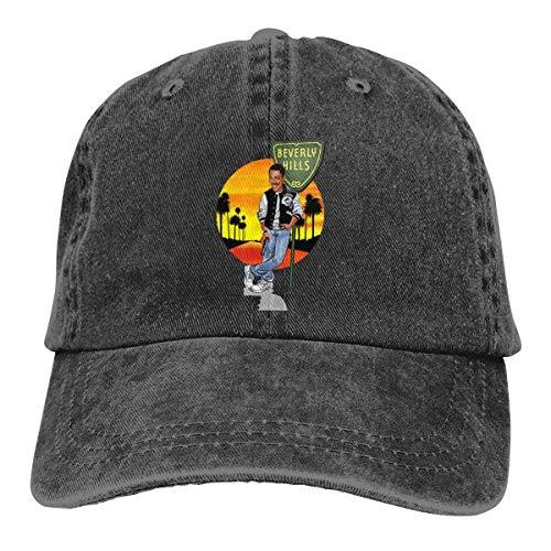 FUGVO Novedad Sombreros Personalizados Negro Beverly Hills Cop Un tamaño Casquette Sombrero de Vaquero