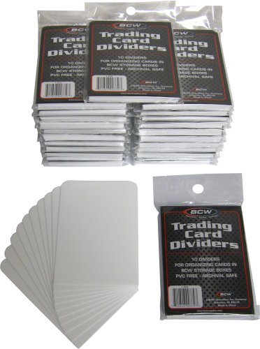 BCW Trading Card Dividers - 10 Dividers per Pack (Quantity of 25 Packs, 250 Cards Total) image
