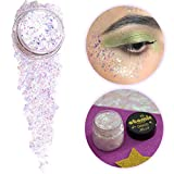 ATOMIC MAKEUP Body Glitter - Vegan & Cruelty Free - Limelight (White/Translucent) - Glitter for Face, Hair, Festivals, Raves, Costumes