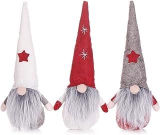 3 Piezas de Adornos de muñeca de muñeca sin Rostro, muñecas de Dibujos Animados para niños, Decoraciones navideñas