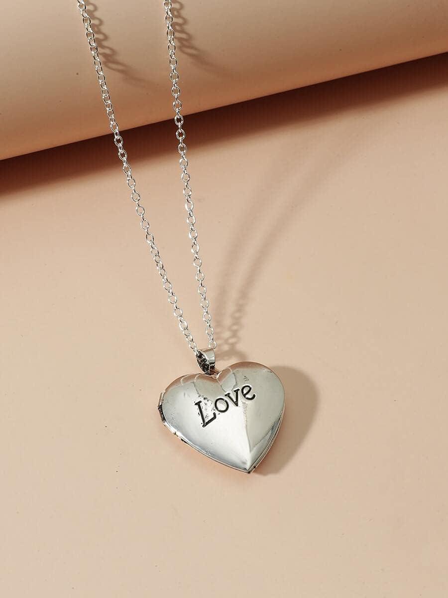 ANBF Necklace Pendant Open Locket store Color free : Charm Heart