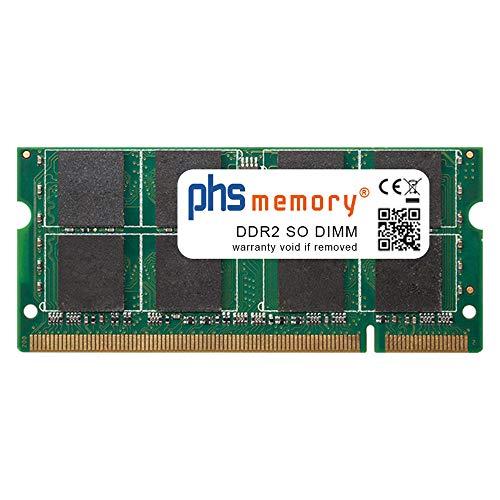 PHS-memory 2GB RAM módulo para Samsung NP-R60 Plus DDR2 SO DIMM