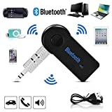 Brutex Bluetooth Receiver Car Kit, Aux Cord Alternative, Wireless Music Bluetooth 4.1 Car Adapter & Bluetooth Car Aux Adapter for Music Streaming Sound System, Hands-Free Car Audio Stereo System