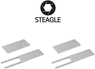 STEAGLE Two Pack (Silver x2) Premium Laptop Webcam Cover [2nd Generation] for your privacy – compatible with Macbook Surface Laptop PC