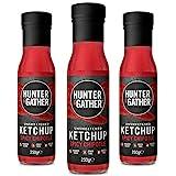 Hunter & Gather Ketchup au chipotle épicé entièrement naturel non sucré | Keto, Paleo, Vegan Friendly | Sans sucre, dattes, sirops et édulcorants - 3 x 250g