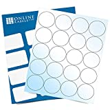 2 Inch White Gloss Round Labels - Pack of 2,000 Circle Stickers, 100 Sheets - Laser Printer - Online Labels