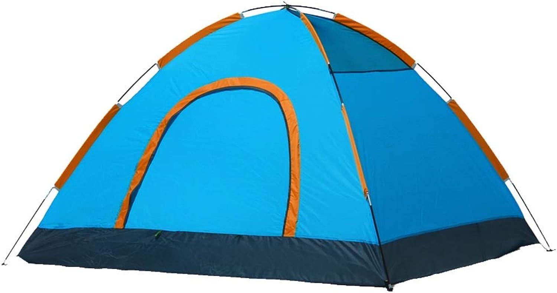 Marke Outdoor 3-4 Personen Doppelzelte Regenschutz Camping Zelte (Farbe  Blau + Orange)