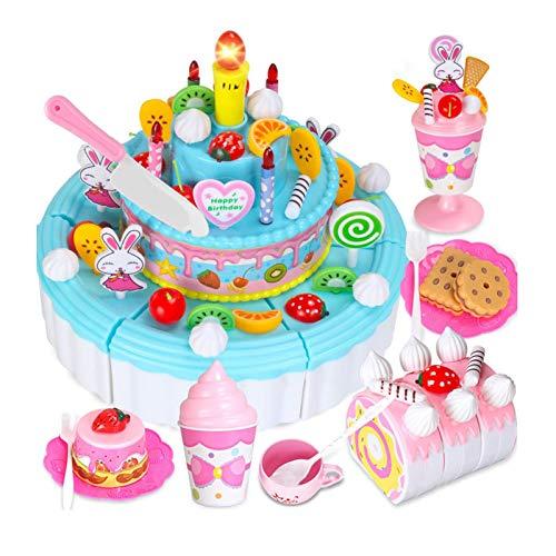 Juego de 103 juguetes para cortar tartas, para hacer manualidades, para preparar tartas, para aprender a jugar en casa o en la cocina.