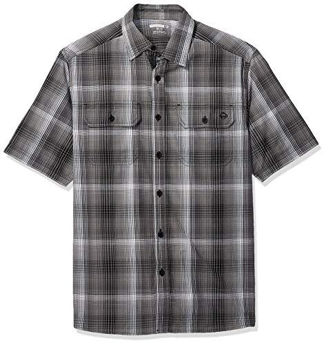 Wolverine Men's Axel Short Sleeve Shirt, Gray Plaid, XX Large