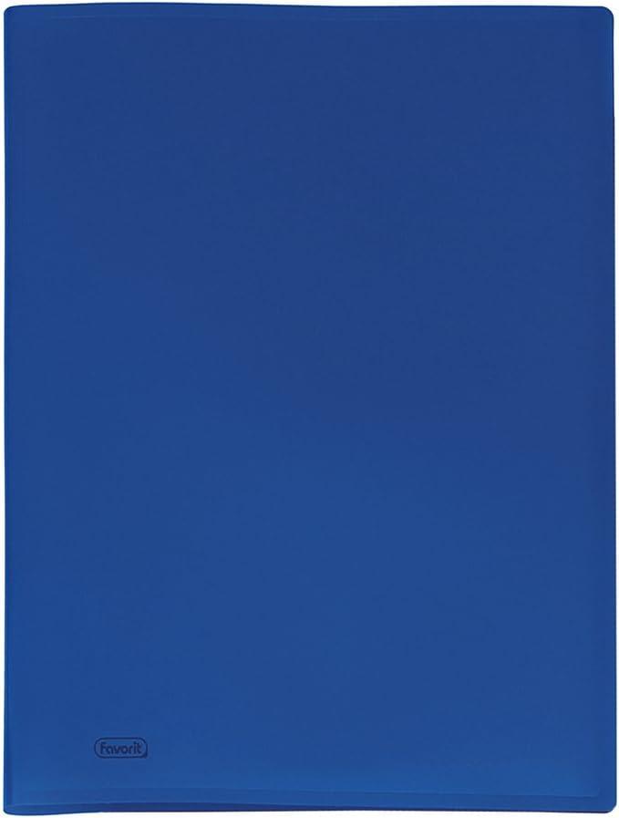 Blu Formato Interno 22 x 30 cm Favorit 400035506 Portalistino con 20 Buste