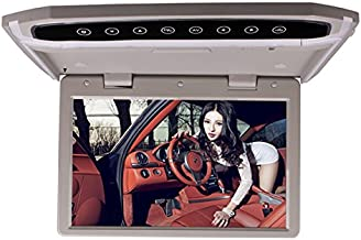 Car Roof Mounted Overhead Flip Down MP4 MP5 Video Audio Multimedia Player LED HD 12.1 Inch Monitor Screen with HDMI SD AV ...