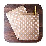 Sacchetti regalo, confezione da 50 pz/caramelle, sacchetti di carta stampata, sacchetti di artigianato, sacchetti da pasticceria