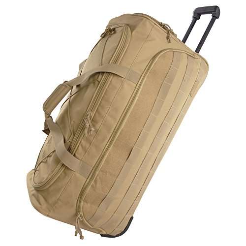 Highland Tactical 30' Squad Large Tactical Rolling Duffel Bag, Desert, One Size