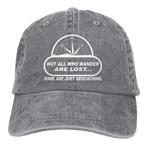 NOBRAND Transpirable Ocio Sombrero,Cómoda Sombrero De Deporte,Secado Rápido Dad Hat,No Todos Wander Lost Geocaching Hombres O Mujeres Vaqueros Ajustables Gorras De Béisbol