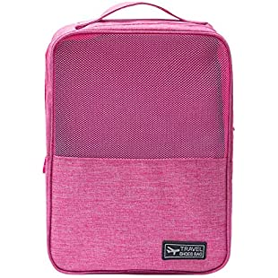 Artistic9 Travel Shoes Bag, Portable Shoes Storage Bag for Shoes in your Suitcase Traveling Shoes Pouch for Men and Women 1PC (Hot Pink):Downloadlagump3gratis