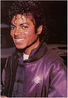 Michael Jackson King of Pop Head Shot Wearing Jacket and Big Smile 8 x 10 Inch Photo