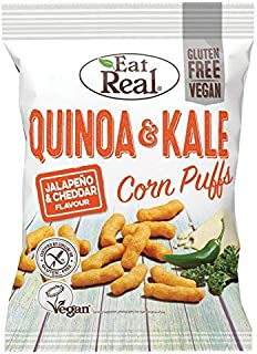 Eat Real Quinoa Kale Puffs Jalapeno Flavour - 113g (0.24 lbs)