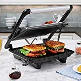 Panini Press Gourmet Sandwich Maker, 4-Slice Extra Large Panini Press Grill with Non-Stick Coated...