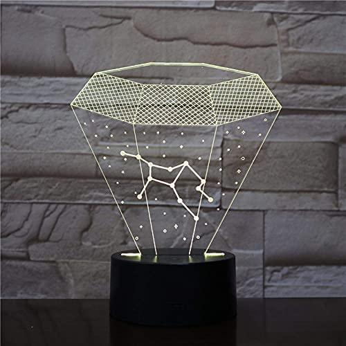 ilusión 3D lámpara de ilusión óptica para Inventó la constelación de Virgo, la Vía Láctea, el destello de la estrella luz nocturna remoto para sala de estar, bar, regalo juguetes para niños y niñ