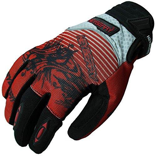 Heyberry Motocross Enduro MX Handschuhe schwarz rot weiß Größe: M