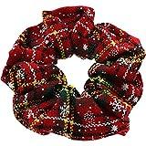 CeFoney Coleteros de pelo de poliéster, coleteros para niñas, accesorios de Navidad para el pelo de Navidad, tocado femenino, anillo de pelo, regalos para familia o amigos