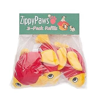ZippyPaws – Sea Buddies Burrow, jouet interactif couinant cache-cache et recherche pour chien – Lot de 3