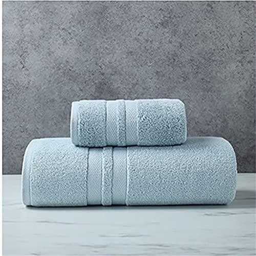 ZAIZAI Toalla de baño Juego de Toallas de baño de algodón Hotel Toalla de baño de Calidad para el hogar Tamaño: 1 Pieza (Color : Light Blue, Size : 70x140cm 35x75cm)