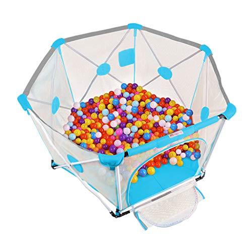 Clôture de jeu Toddler Fence Intérieure pour Enfants Parc pour Bébé Piscine À Balles Marine Pliable pour La Maison Grand Terrain De Jeu Couvert (Color : Blue, Size : 150x150x82.5cm)
