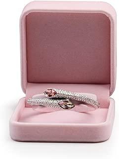 Oirlv Pink Velvet Bangle/Bracelet Gift Box Jewelry Storage Box Accessories Case