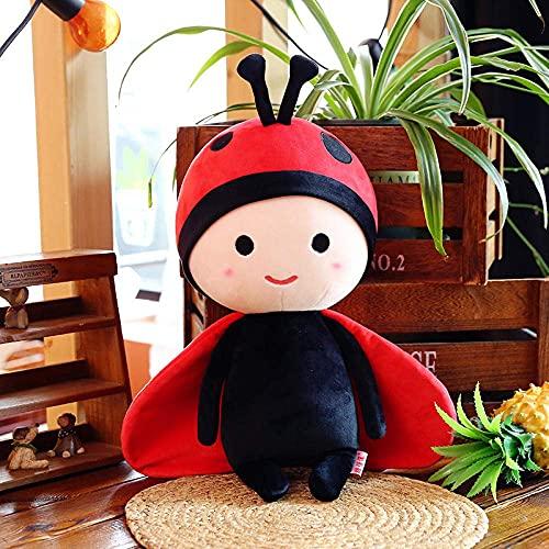 GINDU 30-60 cm Pareja de Dibujos Animados Ladybug Flor Little Siete Muñeca Almohada Suave para niños Pelush Toy-Red_65 cm