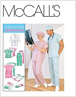 McCall's Patterns M6107 Misses'/Men's Lab Coat, Dress, Top, Pull-On Pants, Hats and Tie Belt, Size Z (XLG-XXL)