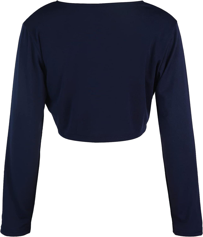 Women's Cropped Bolero Cardigan Short/Long Sleeve Shrug Open Front Cotton Cardigan Bolero Jacket for Evening Dresses