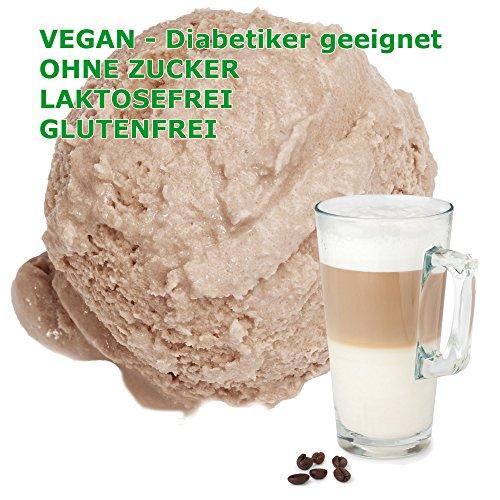 Latte Macchiato Geschmack Eispulver VEGAN - OHNE ZUCKER - LAKTOSEFREI - GLUTENFREI - FETTARM, auch für Diabetiker Milcheis Softeispulver Speiseeispulver Gino Gelati (Latte Macchiato, 333 g)