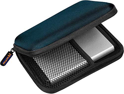 Mumbi - Custodia per hard-disk esterno, fino a 2,5'' (6,35 cm), Blu