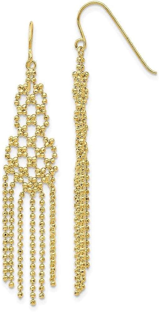 Jewelry-14K Bead Chain Earrings