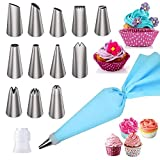 Cake Decorating Supplies Kits Piping Bags and Tips Baking Supplies Cupcake Icing Tips with Pastry Bags for Baking Decorating Cake