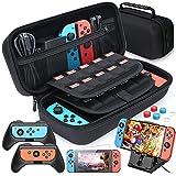 HEYSTOP 11 en 1 Funda Compatible con Nintendo Switch, Nintendo Switch Estuche portátil Incluye 2 Grips para Nintendo Switch, PlayStand ajustable, Protector de Pantalla con 6 Tapas de Agarre